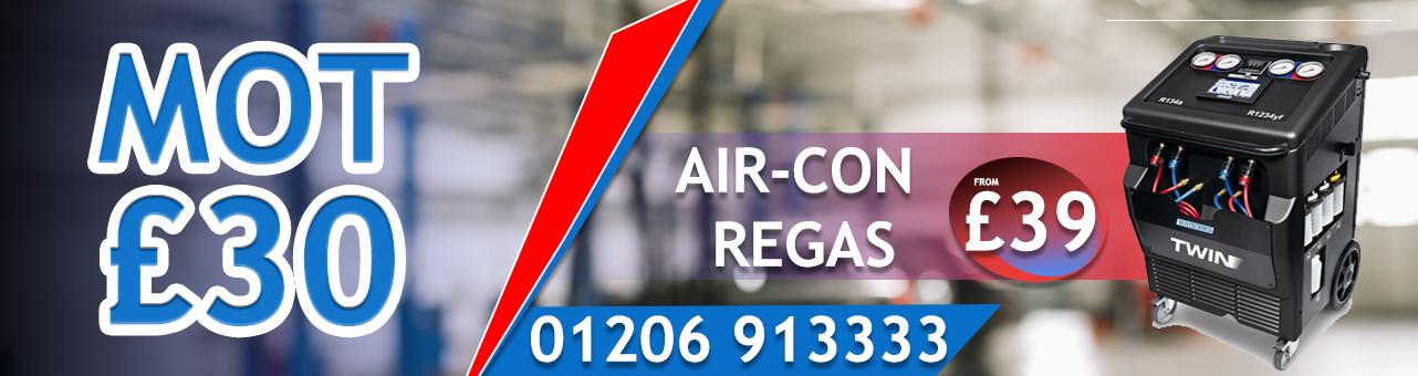 mot £30 , Air-Con Regas £39